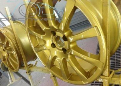 Felgen gold lackiert
