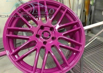 Felgen pink lackiert