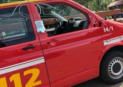 Feuerwehr Fahrzeug lackiert