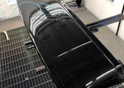 Reimo Dach Einbau am VW Klarlack Frontschutz
