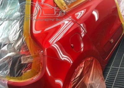Seitenwand rot lackiertc